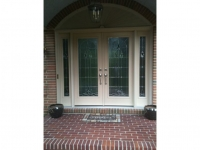 Homecraft-ProVia-French Entry Door with Sidelites and Circle Top Fypon