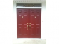 Homecrraft-ProVia-French Entry Door with Transom