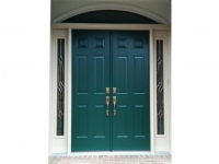 Homecraft-ProVia-French Entry Door with Sidelites and Transom