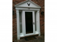 Homecraft-ProVia-Entry Door with Sidelites with Internal Blinds, and Storm Door