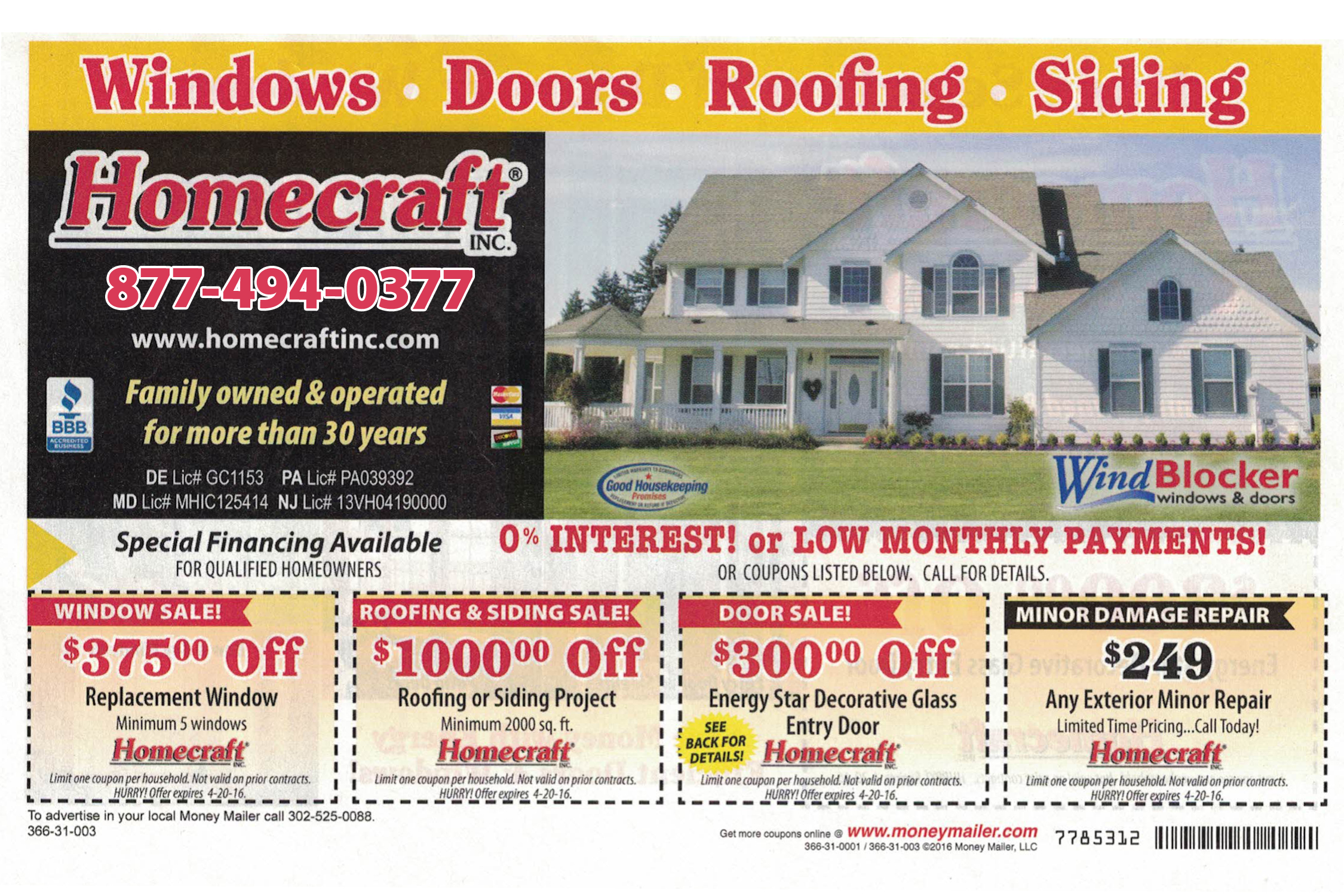 Special Offer Replacement Windows Vinyl Siding Roofing