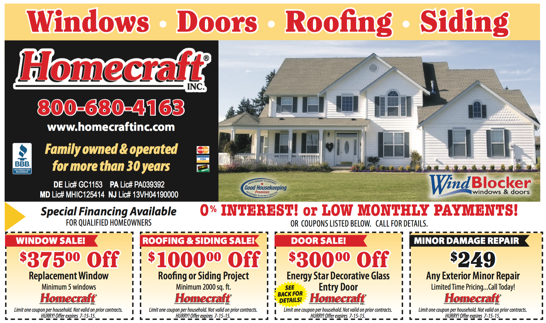 April May Special Offer Replacement Windows Vinyl